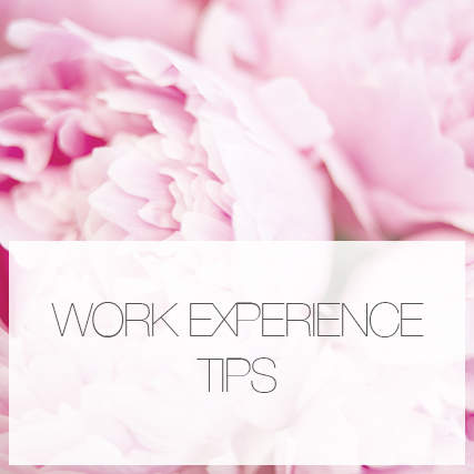 Work experience tips!