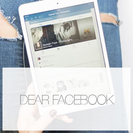 Dear Facebook…