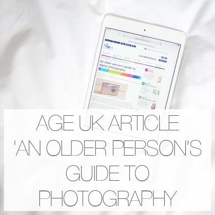 Age UK article : 'An older person's guide to photography'.