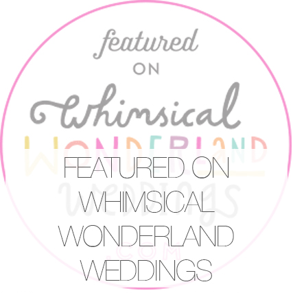 Featured : Whimsical Wonderland Wedding