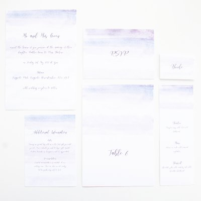 Ochre wedding stationery