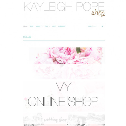 I have an online shop!