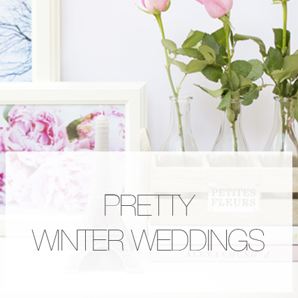 Pretty winter weddings