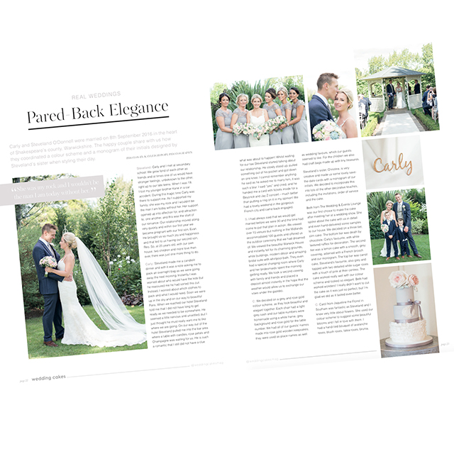 My photographs are in Wedding Cakes Magazine!