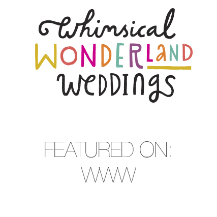 Whimsical Wonderland Weddings – FEATURED